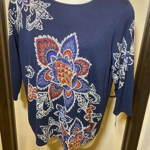 Alfred Dunner Pull On Sweater